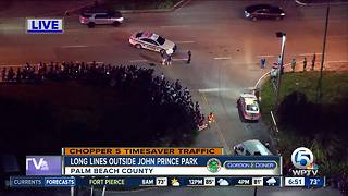 Chopper 5: Heavy traffic around John Prince Park for food asssitance - Video