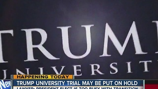 Trump University trial could be delayed - Video