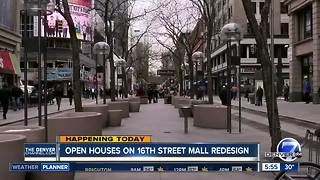 Open houses today on 16th Street Mall redesign - Video