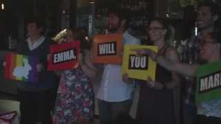 Friends Help Yes Campaigners With Proposal Night Ahead of Survey Results - Video