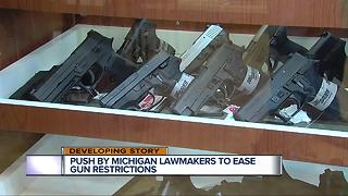 Push by Michigan lawmakers to ease gun restrictions - Video