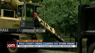 Polk County crews cleaning out storm drains - Video