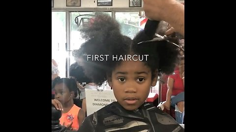 Kid's first haircut is a major transformation