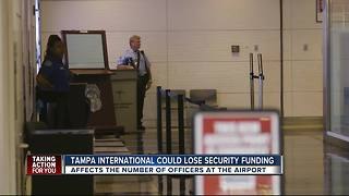 Tampa International could lose security funding - Video
