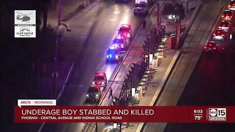 Boy dies from stabbing in Phoenix near Central Ave and Indian School Rd