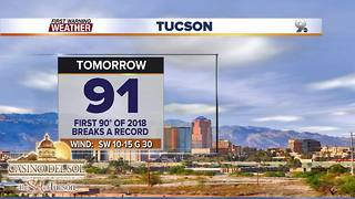 Chief Meteorologist Erin Christiansen's KGUN 9 Forecast Wednesday, March 21, 2018 - Video