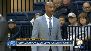 USD coach placed on leave after arrest - Video