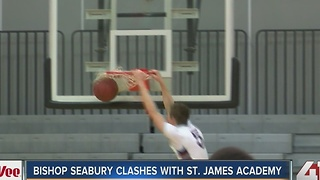 St. James Academy beats Bishop Seabury 85-63 - Video