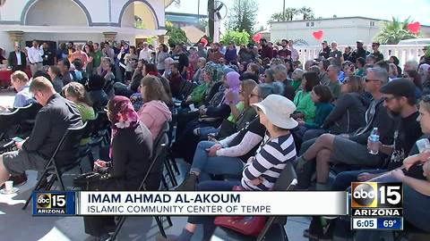 Community provides support to Tempe mosque after hate-filled video surfaces