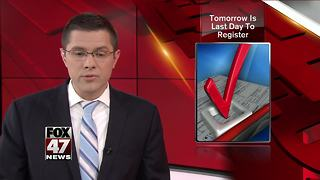 Last day to register to vote in August primary - Video
