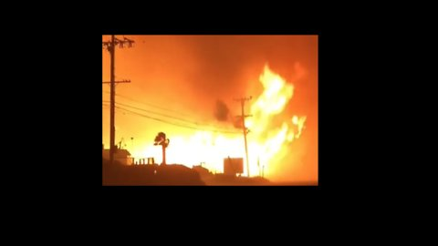 Extreme Wind Whips Up Woolsey 'Firenado' Near Pacific Coast Highway