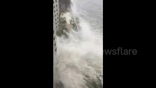 Typhoon Hato hits southern China - Video