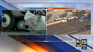 One person killed in crash at the I-10 and 51st Avenue Monday morning - Video