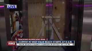Downtown West Palm Beach quiet as Irma approaches - Video