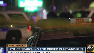 Phoenix police search for suspect after hit and run