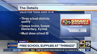 Free school supplies for students in the Valley - Video