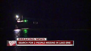 U.S. Coast Guard searches for two people missing in Lake Erie near Ashtabula - Video