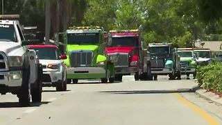Tow Truck Funeral Procession - Video