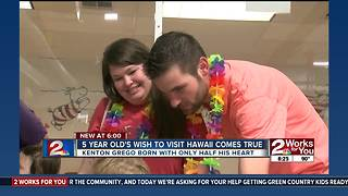 5-year-old's wish to visit Hawaii comes true