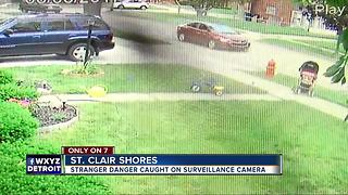 Stranger Danger caught on surveillance video - Video