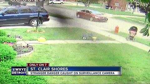 Stranger Danger caught on surveillance video