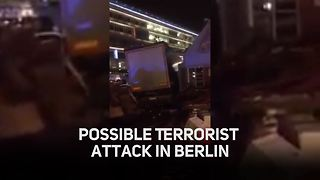 Possible Terrorist Attack at Berlin Christmas Market - Video