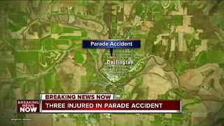 3 injured when tractor crashes during parade in Wisconsin - Video