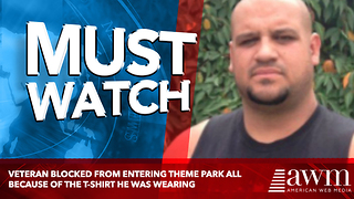 Veteran Blocked From Entering Theme Park All Because Of The T-Shirt He Was Wearing - Video