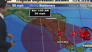 Late-season tropical depression forms in the Caribbean - Video