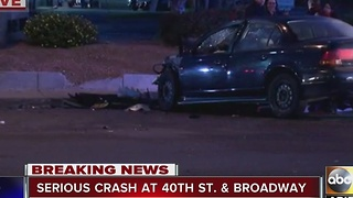 Morning crash in Phoenix at 40th Street and Broadway