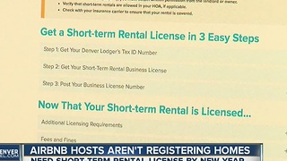 Issues plague new Denver AirBnb Registry - Video