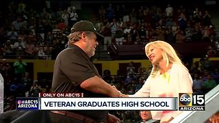 Valley veteran gets high school diploma alongside granddaughter - Video