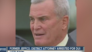 Former JeffCo District Attorney Scott Storey arrested on investigation of DUI in Littleton - Video