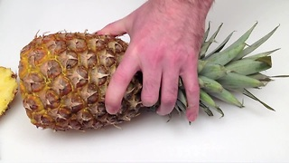 How to cut a pineapple 1 slice at a time - Video