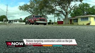 Thieves target St. Petersburg maintenance contractor in broad daylight - Video