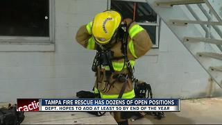 Tampa Fire Rescue searching for firefighters to fill about 50 positions - Video