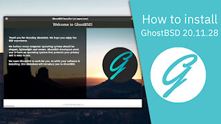 How to install GhostBSD 20.11.28