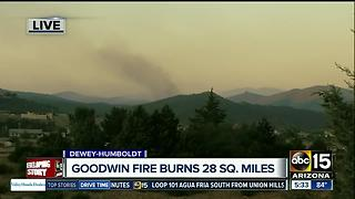 Goodwin Fire burns 18,000 acres: 1% contained, towns evacuated
