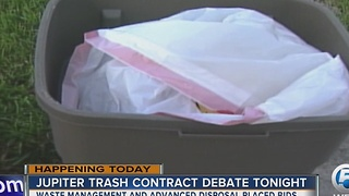 Jupiter trash contract up for debate Wednesday - Video