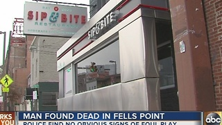 Police investigate suspicious death in Fells Point - Video