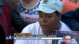 Williams family demands justice - Video