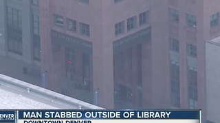 Stabbing at Denver Public Library - Video