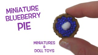 Miniature blueberry pie DIY - Video