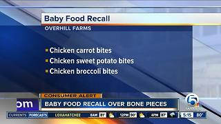 Yummy Spoonfuls baby food recalled for chicken bone fragments - Video