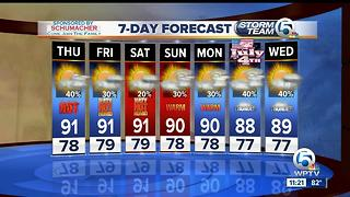 Latest Weather Forecast Wednesday 11 p.m. - Video