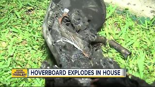 Florida family says hoverboard sparked house fire - Video