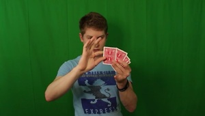 Green screen magic trick transforms cards - Video