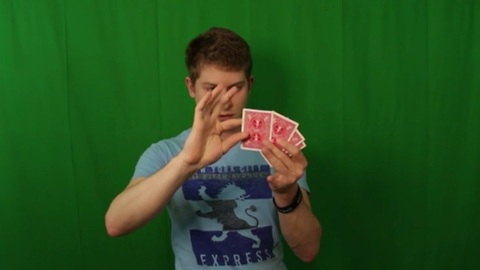 Green screen magic trick transforms cards