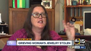 Woman burglarized grieving mother's death
