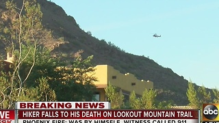Hiker falls to his death on Lookout Mountain - Video